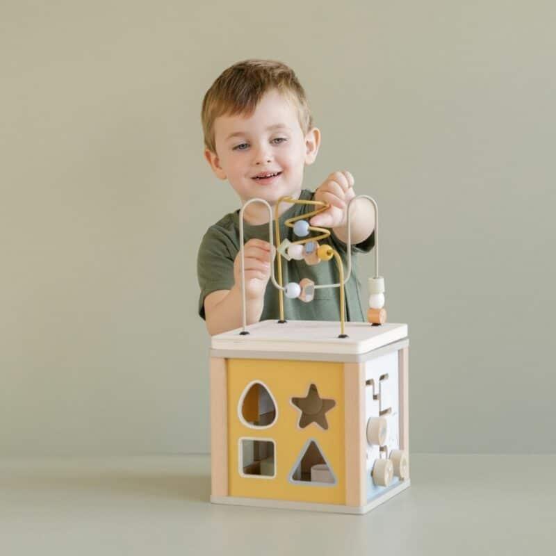 Wooden Activity Cube Little Goose