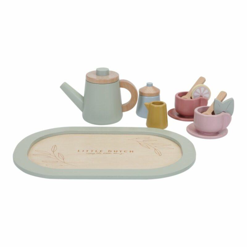 Wooden Tea Service Set
