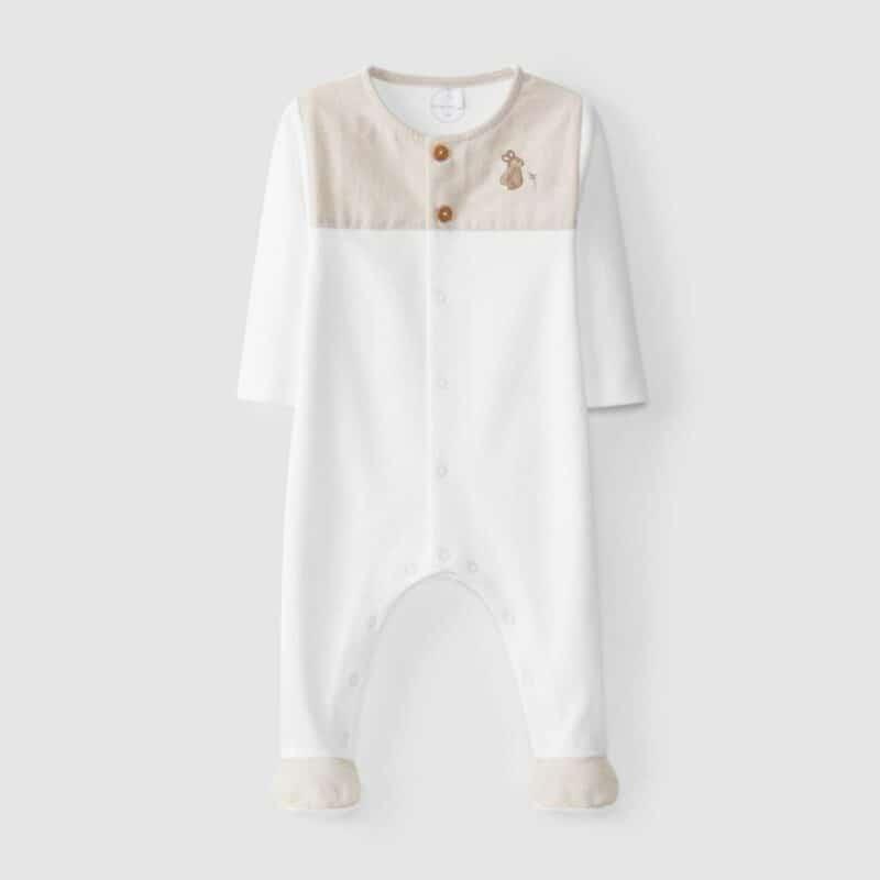 Embroidered Babygrow Rabbit San