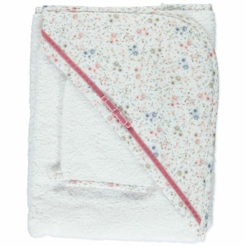 Purete White & Floral Towel