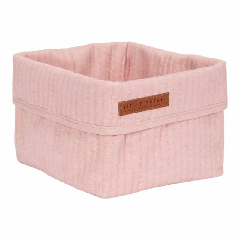 Little Dutch Storage basket, small Pure Pink