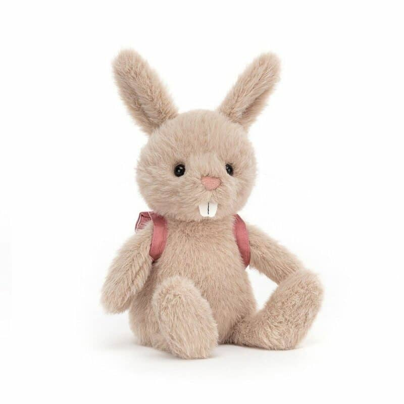 Jellycat Bunny Toy with Backpack