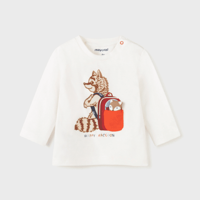 PLAY WITH Long Sleeve Racoon T-Shirt