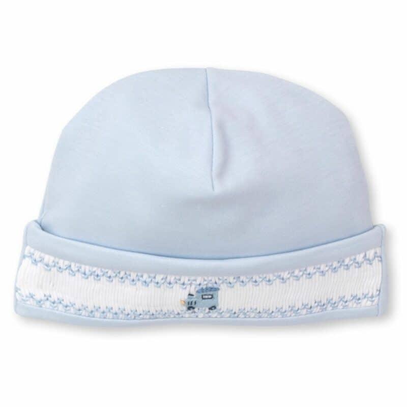Kissy kissy Blue train smocked hat