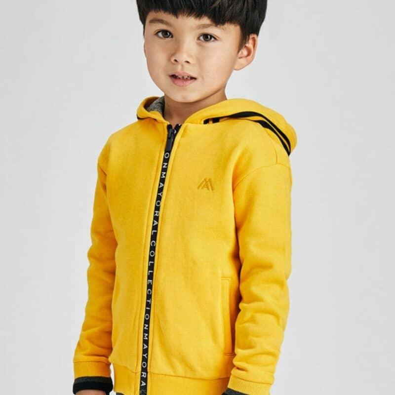 Contrast hoodie Yellow