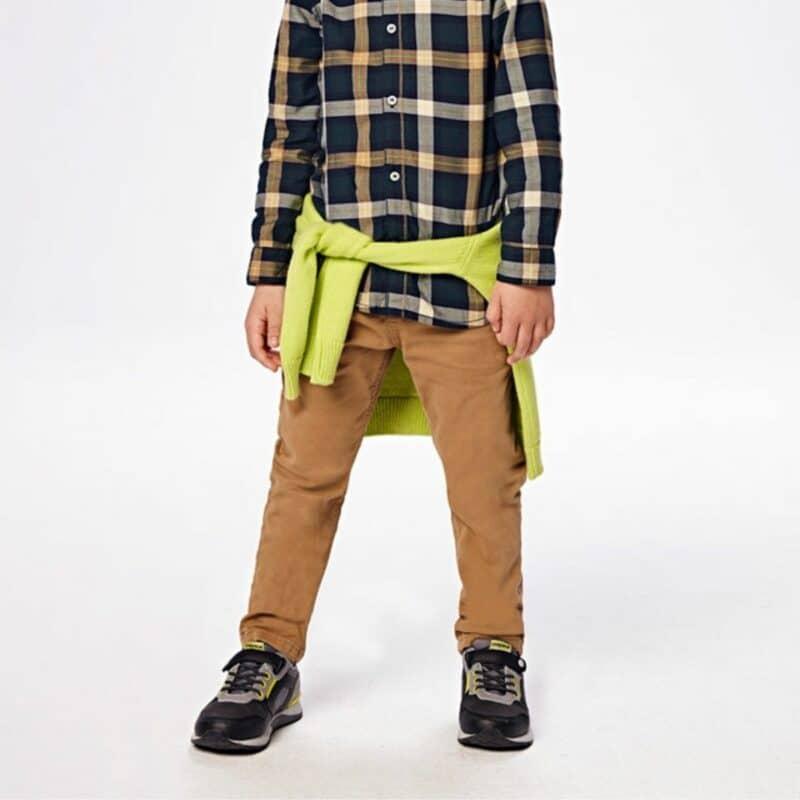 Boy's Jogger Mini Plaid Long Trousers