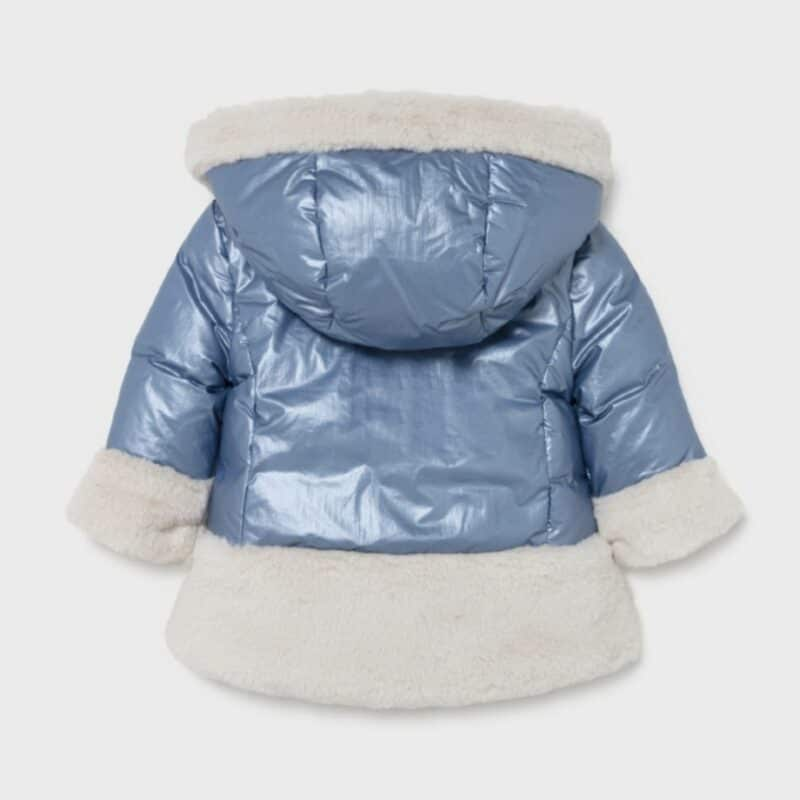 ECOFRIENDS Reversible Fur Coat Blue