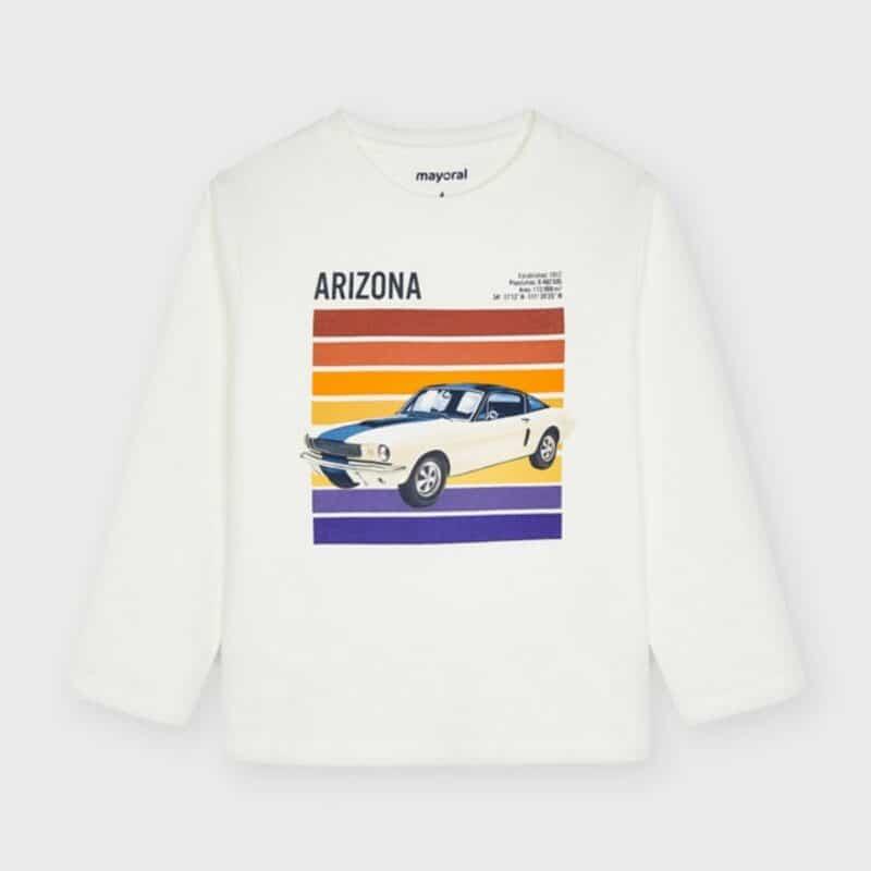 ECOFRIENDS Long Sleeve Car Print T-Shirt