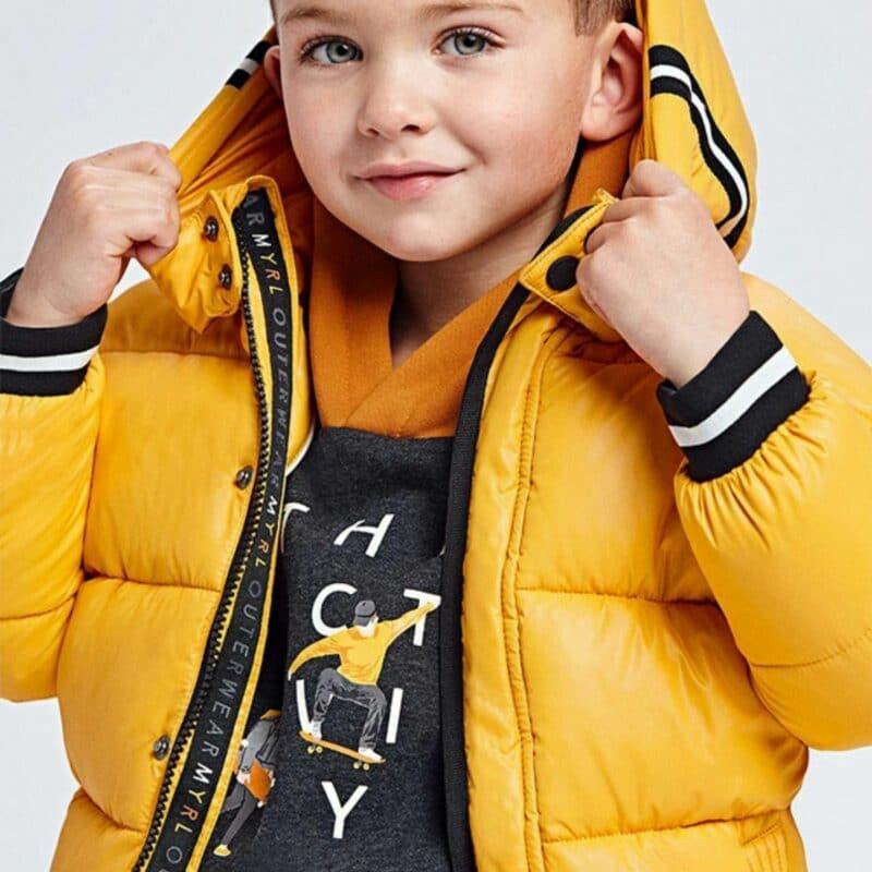Mayoral Honey Yellow Padded Coat