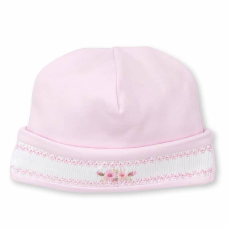 Kissy Kissy Smocked Pink Floral Hat